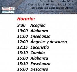 Retiro Diocesano Tarragona Horario