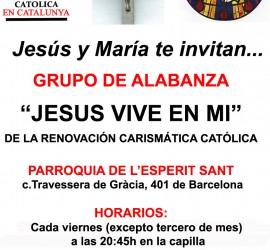Cartel Grupo Jesus Vive en mi