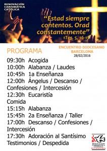 Horario ED280216