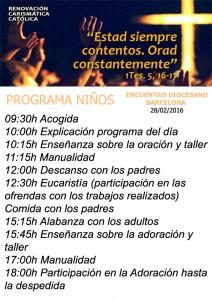 Programa niños ED280216