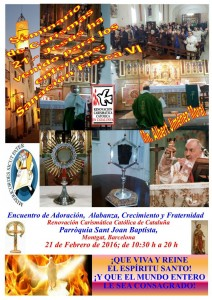 Retiro Mensual Montgat 21-02-16