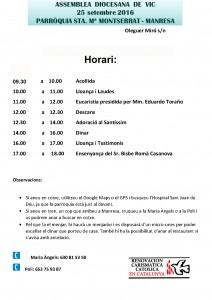 Horari ADV250916